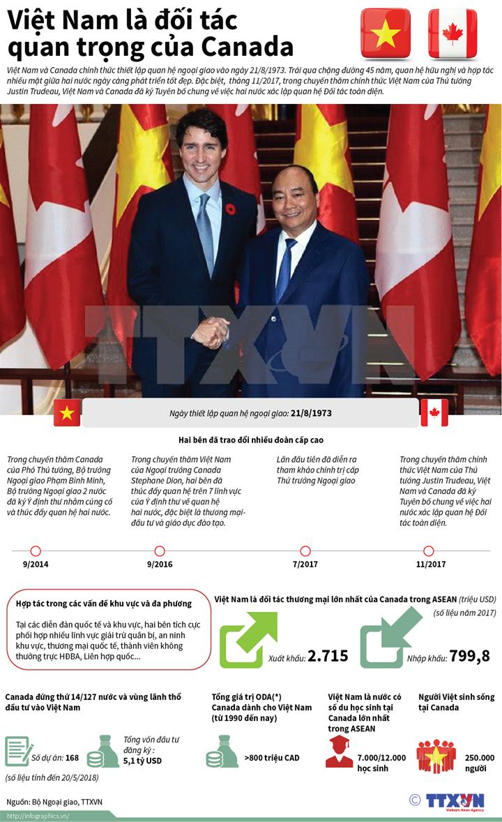 infographic viet nam la doi tac quan trong cua canada