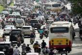 Chất lượng không khí tại các điểm giao thông hướng ngoại thành tăng nhẹ