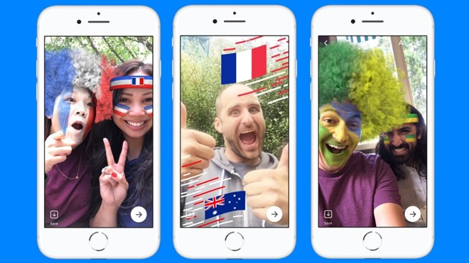 facebook them chu de va hieu ung world cup 2018 cho messenger