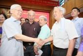 Tổng Bí thư Nguyễn Phú Trọng tiếp xúc cử tri tại 3 quận Hà Nội