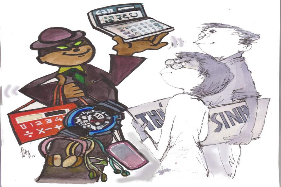 Cảnh giác với các thiết bị công nghệ cao lọt vào phòng thi