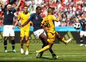 Paul Pogba bị tước bàn thắng vào lưới của Australia
