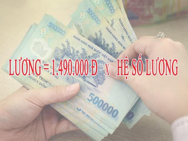 Từ 1/7: Mức lương cơ sở tăng lên 1.490.000 đồng/tháng