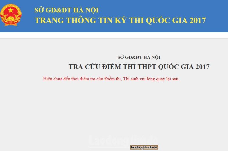 Học sinh Hà Nội có thể tra cứu điểm thi THPT từ chiều mai