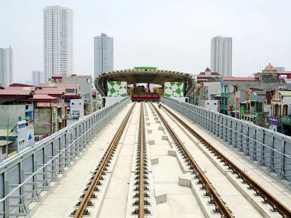 Dự án đường sắt trên cao Cát Linh - Hà Đông đã hoàn thành hơn 94%