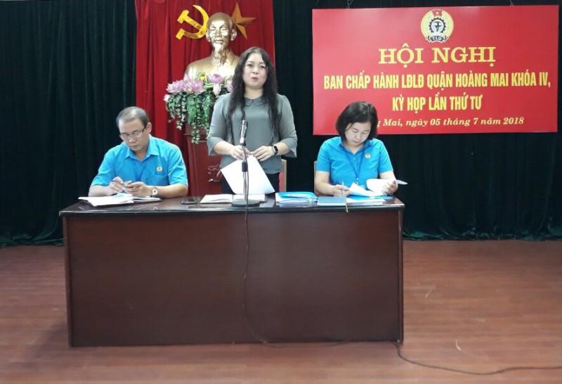 BCH LĐLĐ quận Hoàng Mai khóa IV: Tổ chức Hội nghị lần thứ 4