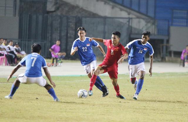 Hòa thất vọng Singapore, U19 Việt Nam cay đắng rời giải