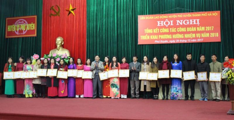 LĐLĐ huyện Phú Xuyên: Quan tâm chăm lo cho đoàn viên