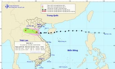 Bão số 3 suy yếu thành áp thấp nhiệt đới, Bắc - Bắc Trung Bộ vẫn mưa to