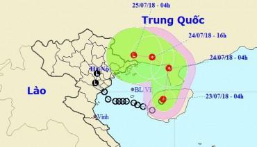 Áp thấp nhiệt đới đổ bộ vào đảo Hải Nam - Trung Quốc