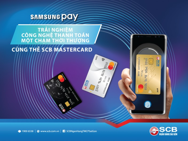 ra mat tinh nang samsung pay cho the quoc te scb mastercard