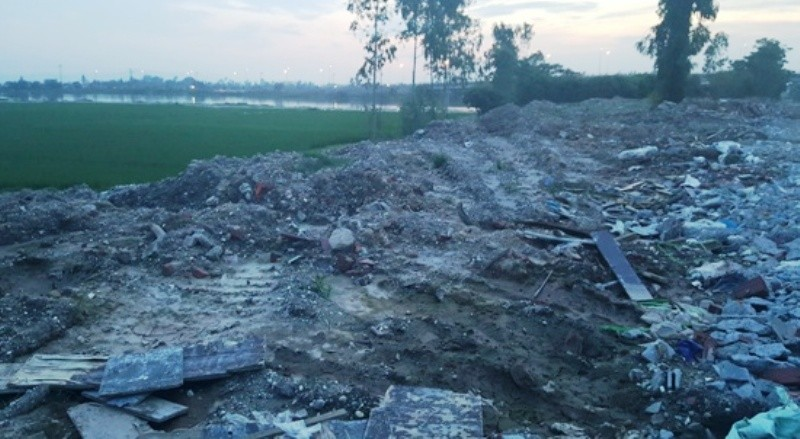 Phường Kiến Hưng, quận Hà Đông: Phế thải vùi lấp đất nông nghiệp