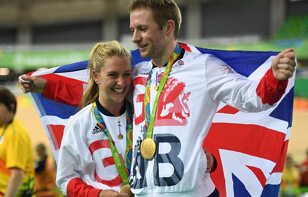 Đôi tình nhân người Anh cùng giành HCV Olympic Rio 2016