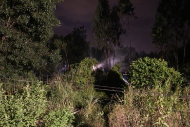 Gần 100 chiến sĩ chữa cháy rừng gần sân bay Đà Nẵng