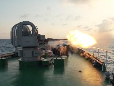 Bắn nghiệm thu pháo trên các tàu tuần tra cao tốc
