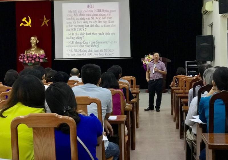 LĐLĐ Quận Cầu Giấy: Tập huấn kỹ năng thương lượng tập thể