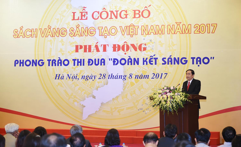 thu tuong du le cong bo sach vang sang tao viet nam
