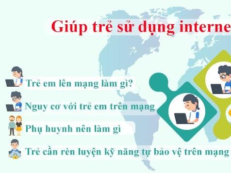 [Infographic]: Giúp trẻ sử dụng internet an toàn