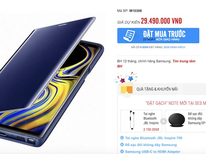 Galaxy Note9 sẽ về Việt Nam với giá lên đến 30 triệu đồng