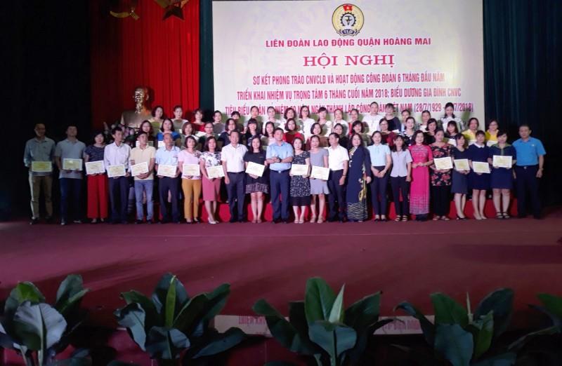 LĐLĐ quận Hoàng Mai: Nhân rộng gia đình CNVCLĐ tiêu biểu