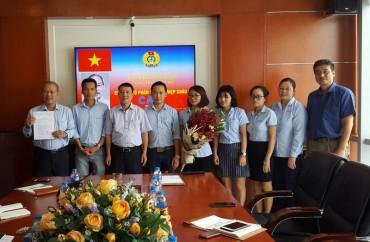 Thành lập CĐCS Công ty Cổ phần công nghiệp Châu Á