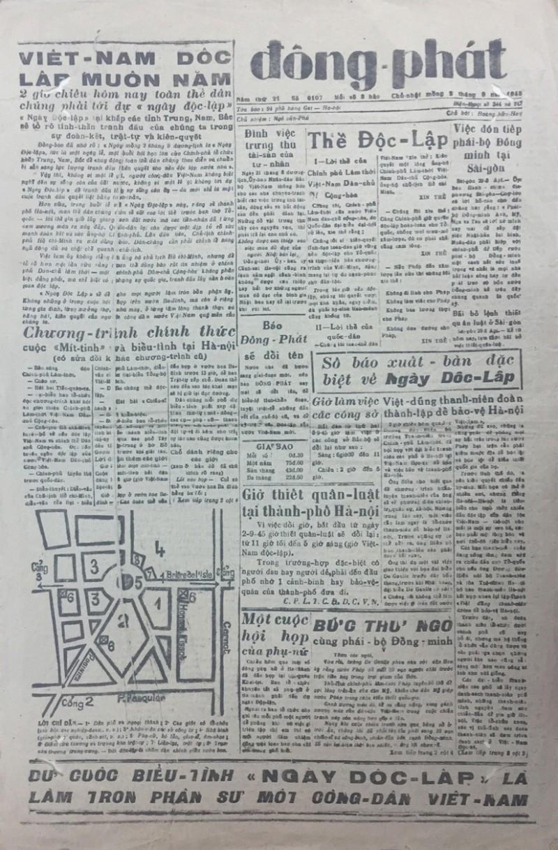 """Số báo đặc biệt xuất bản trong """"Ngày Độc lập đầu tiên"""""""