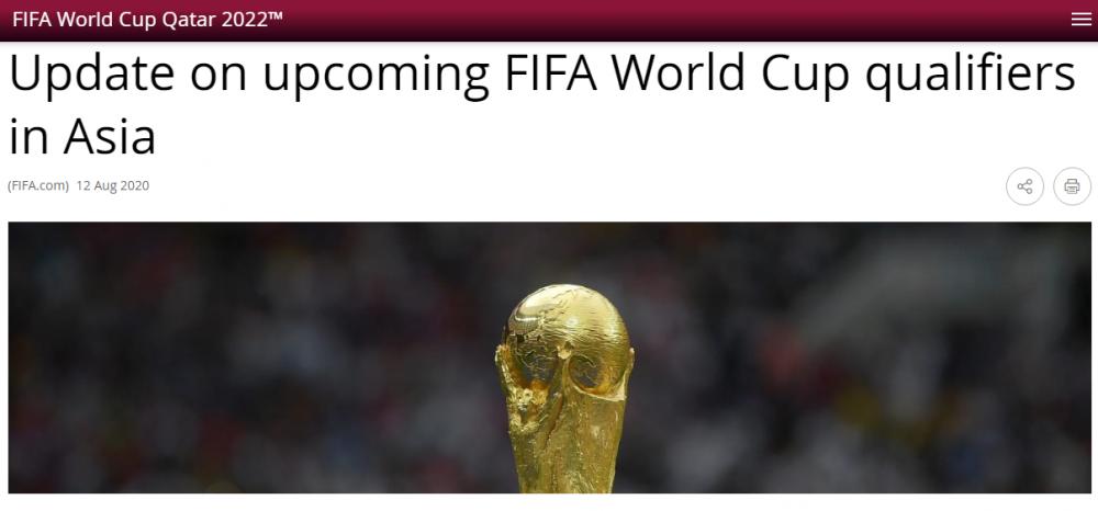 FIFA và AFC thống nhất lùi vòng loại World Cup 2022 sang năm 2021