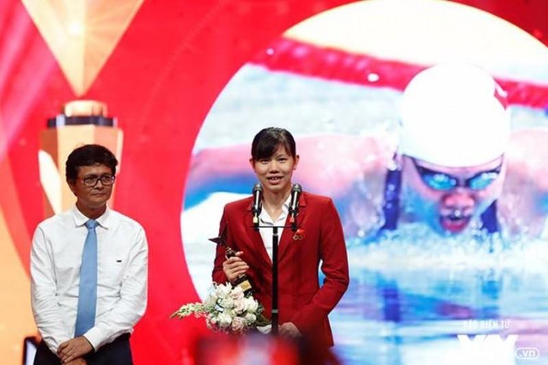 Ánh Viên giành giải nhân vật ấn tượng của năm 2017