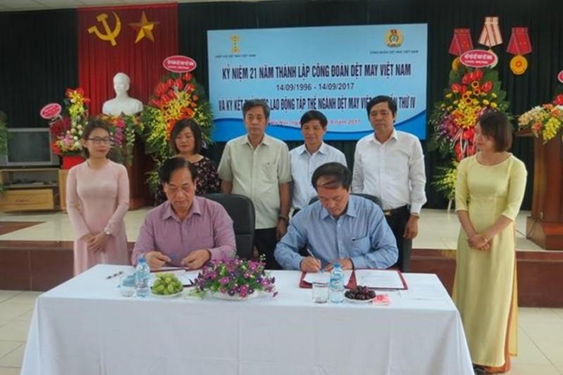 Ký kết thỏa ước lao động tập thể ngành Dệt May Việt Nam