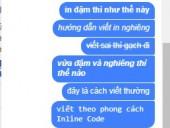 Hướng dẫn viết chữ đậm, nghiêng, gạch chân khi chat facebook