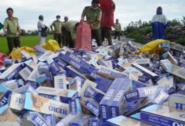 Xử lý nghiêm các đối tượng buôn lậu thuốc lá qua biên giới