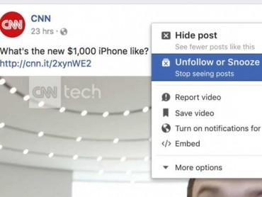 Facebook cho phép tạm thời 'nghỉ chơi' bạn bè