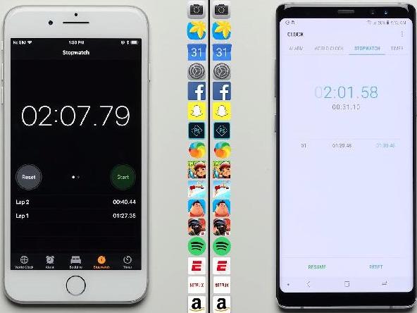 Thử nghiệm thực tế: iPhone 8 Plus chậm hơn Galaxy Note 8