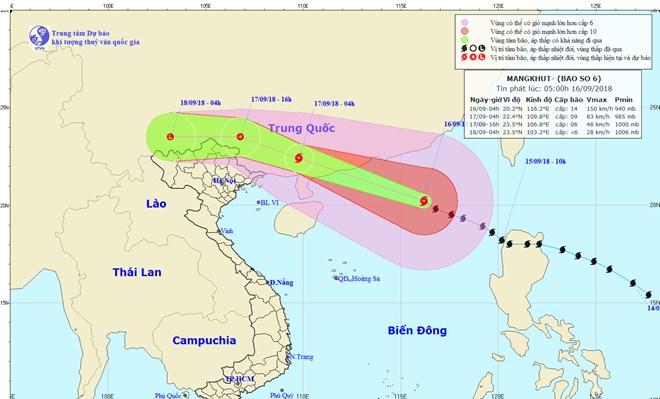 Do ảnh hưởng bão số 6, Bắc Bộ có mưa lớn diện rộng, biển động rất mạnh