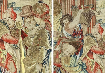 Tấm thảm thêu bằng chỉ vàng và bạc được tìm thấy lại sau gần 250 năm