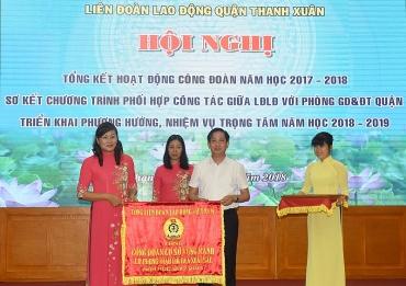 LĐLĐ quận Thanh Xuân: Tiếp tục đổi mới công tác phối hợp