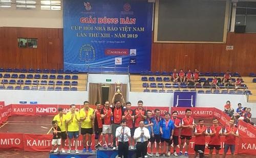 Bế mạc Giải Bóng bàn Cúp Hội Nhà báo Việt Nam lần thứ XIII năm 2019
