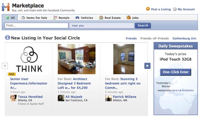 Facebook trình làng tính năng 'Chợ trực tuyến-Marketplace' mới