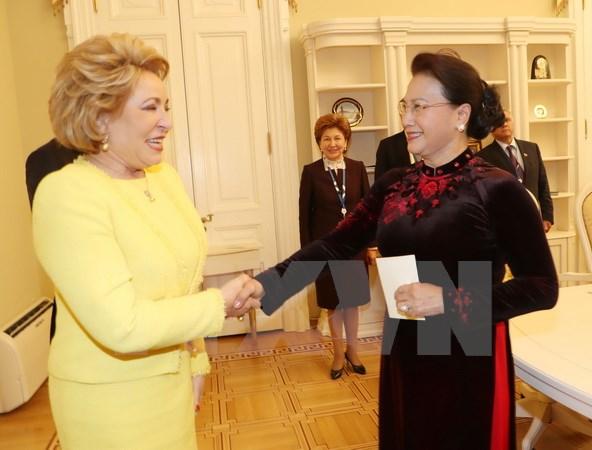 Chủ tịch Quốc hội hội kiến Chủ tịch Hội đồng Liên bang Nga