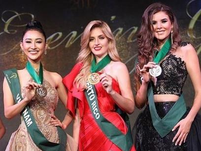 Á hậu Hà Thu tiếp tục giành chiến thắng tại Hoa hậu Trái đất 2017