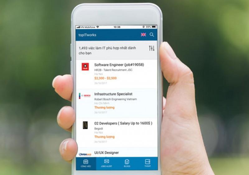Ra mắt ứng dụng tìm việc ngành IT trên thiết bị di động