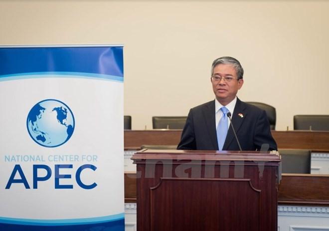 Đại sứ Phạm Quang Vinh dự hội thảo về APEC tại Viện Hoa Kỳ - châu Á