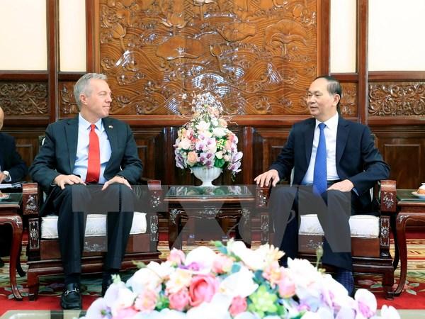 Chủ tịch nước Trần Đại Quang tiếp Đại sứ Hoa Kỳ tại Việt Nam