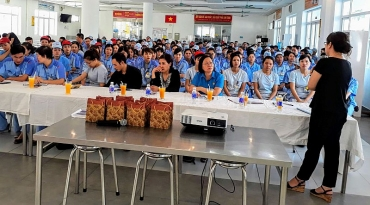 Tuyên truyền pháp luật BHXH tới gần 300 công nhân Stanley Việt Nam