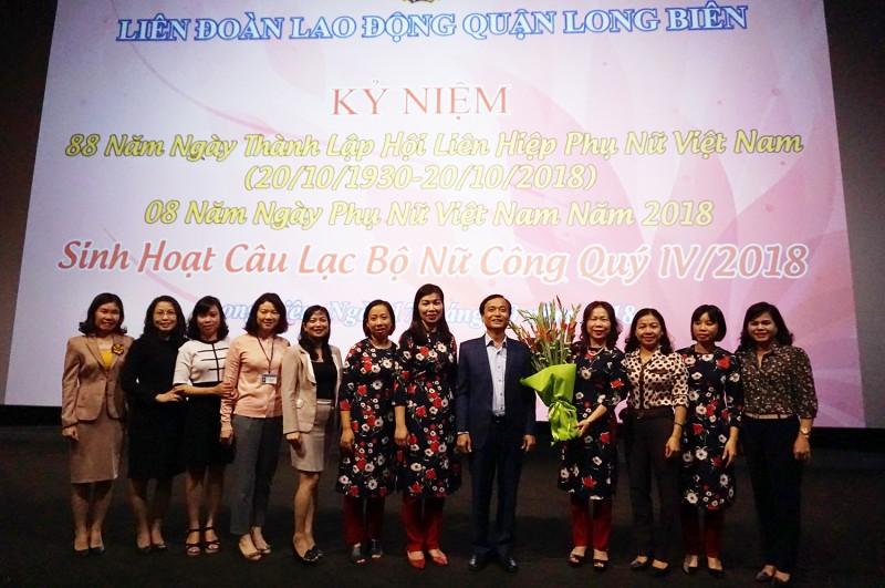 LĐLĐ quận Long Biên: Luôn coi trọng vai trò của lao động nữ