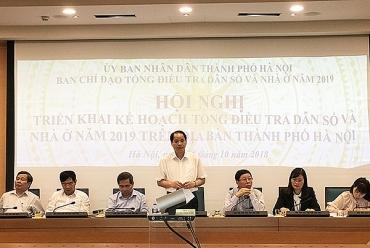 Thành phố Hà Nội: Sẽ thực hiện tổng điều tra dân số vào ngày 1/4/2019