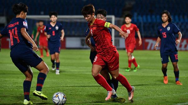 Hạ chủ nhà Thái Lan, U19 nữ Việt Nam rộng cửa đi tiếp tại giải châu lục