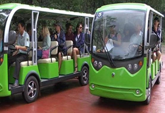 Hội An đưa đón khách bằng xe điện từ năm 2017