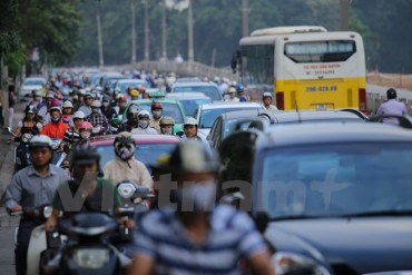 Hà Nội: Đường Kim Mã bị chia đôi gây ùn tắc từ sáng đến tối