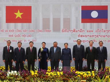 Khởi công Nhà Quốc hội - công trình biểu tượng cho mối quan hệ đặc biệt Việt - Lào